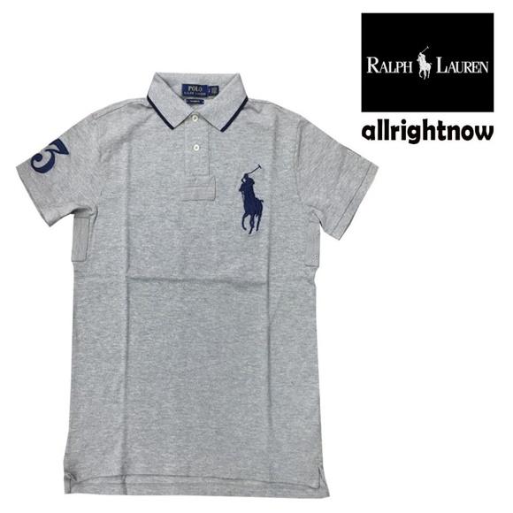 f1f717e24 Polo Ralph Lauren Mens 3 Grey Polo Shirt MSRP  98